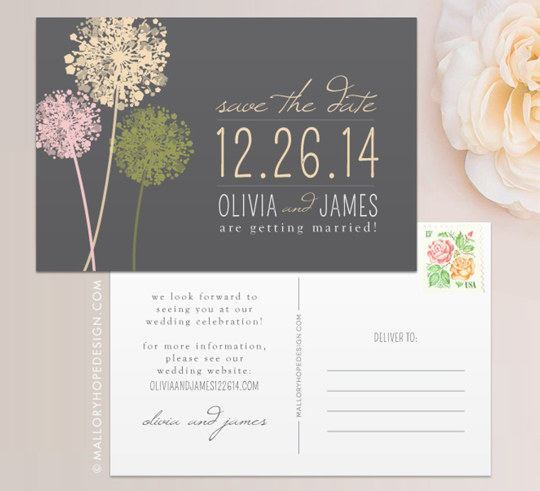 Dandelion Save the Date