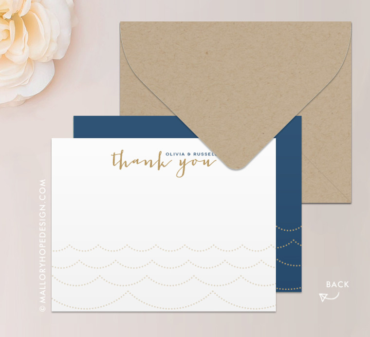 Ocean Wave Stationery or Thank You Card