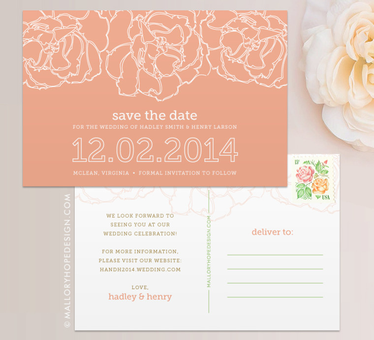 Pretty Peony Save the Date