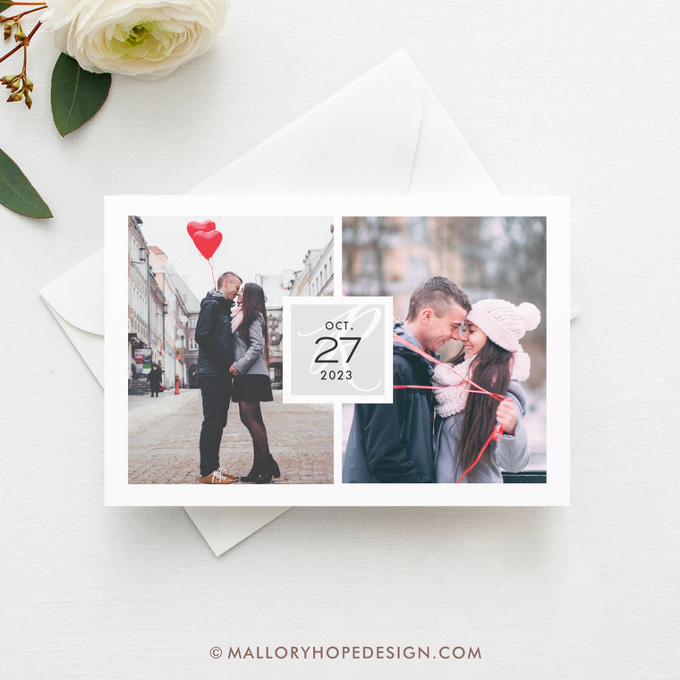 Double Photo Save the Date, Two Photo Save the Date Magnet, Save the Date Postcard with Multiple Photos