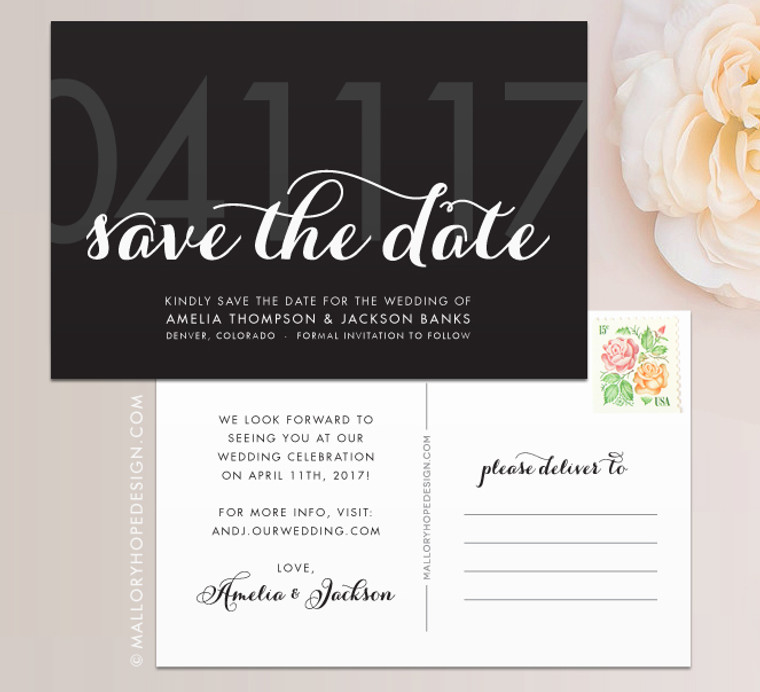 Glam Save the Date