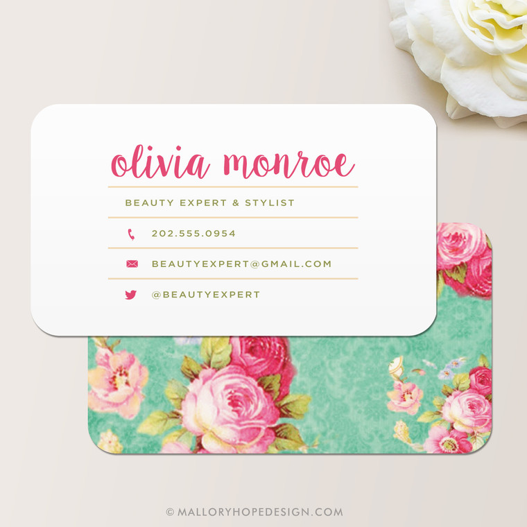 Vintage Floral Business Card