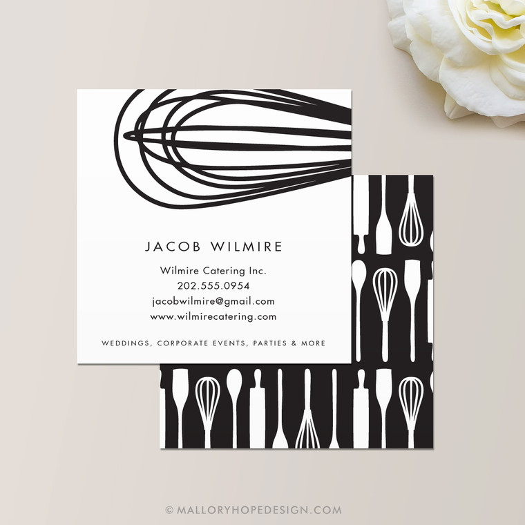 Baker or Catering Chef Square Business Card