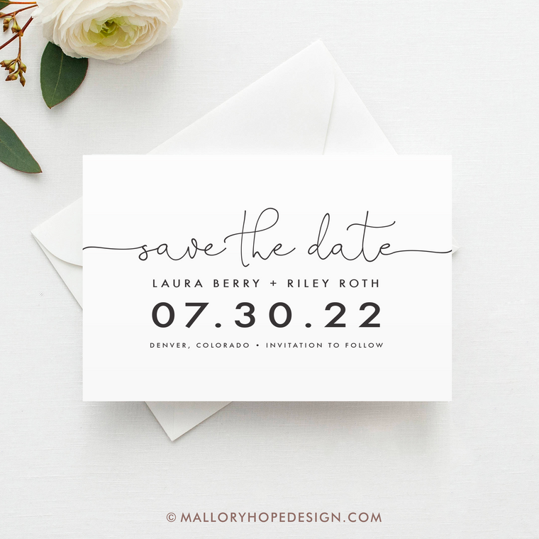 Minimal Save the Date