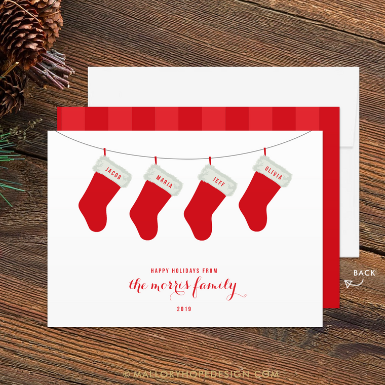 Stockings Family Holiday Card