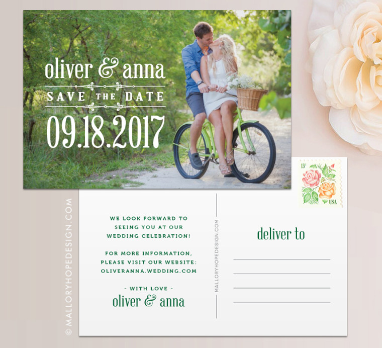 Rustic Photo Save the Date