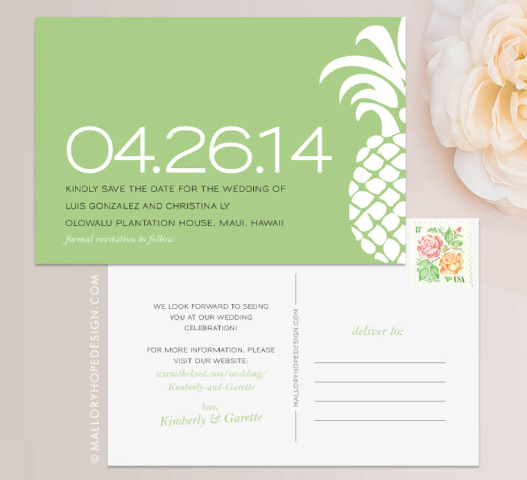 Tropical Pineapple Save the Date