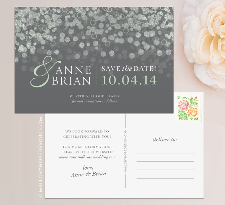 Champagne Bubbles Save the Date