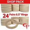 """SHOP PACK 24 Pair GP 6.5"""" Speaker Rings"""