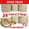 "GP 6.5"" Flush Mount Speaker Rings 24 Pairs"