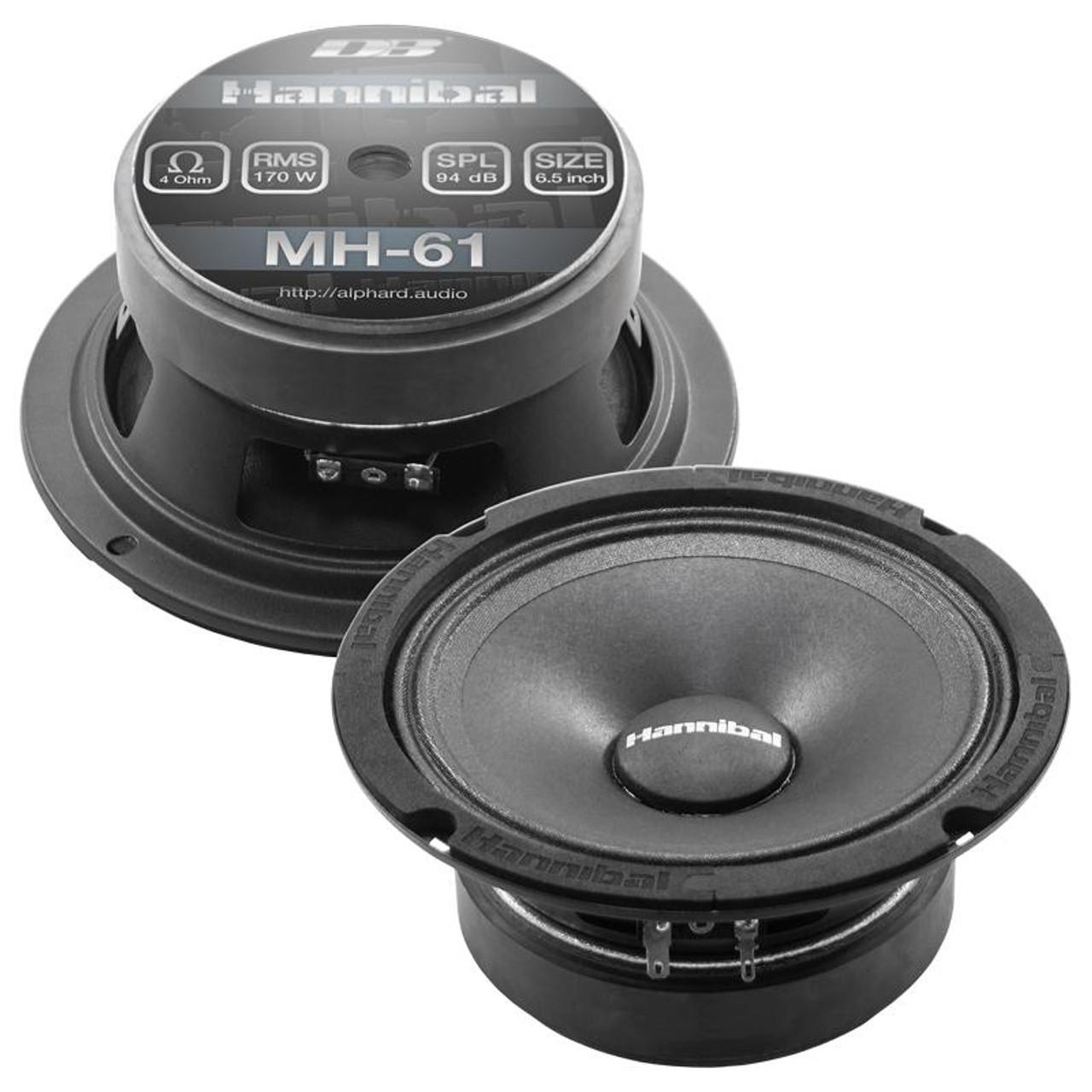 "Hannibal MH-61 | 6.5"" Mid-Range Speakers (Pair)"