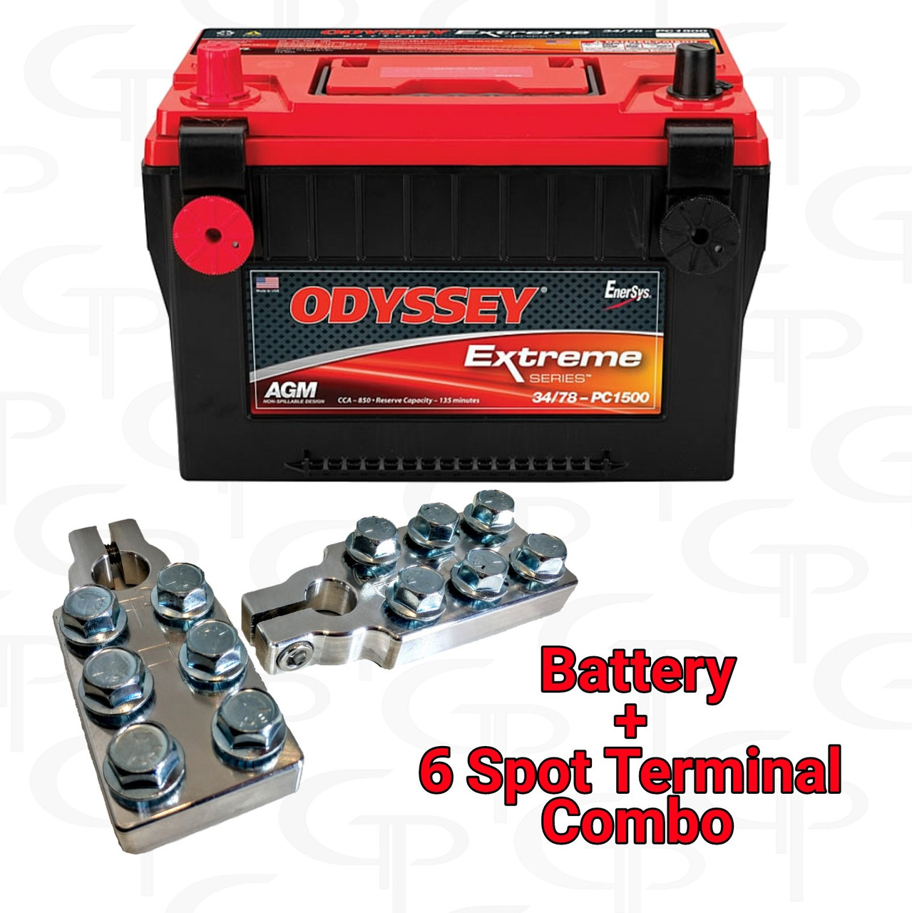 ODYSSEY Extreme Series Battery ODX-AGM34 78 w/ GP Machined Terminals