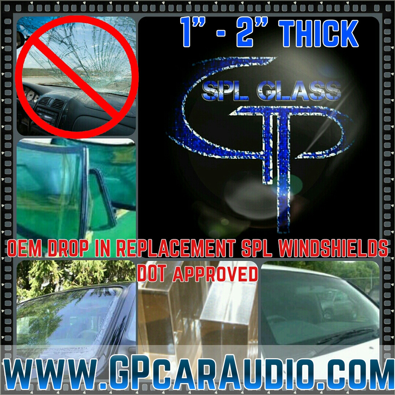 "*SALE* GP SPL GLASS 2"" OEM Replacment Windshield"