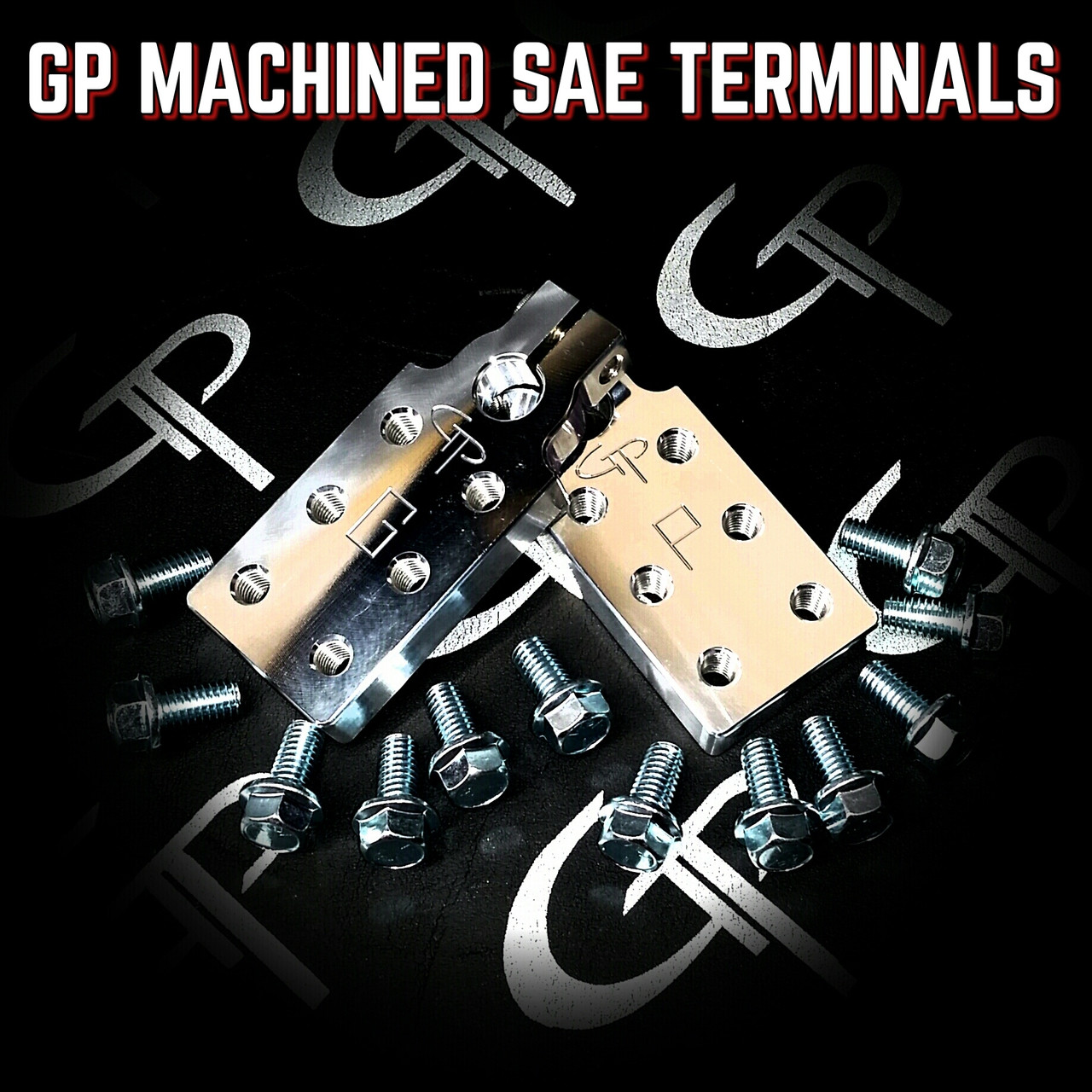 GP Audio SAE Style 6 Spot Machined Battery Terminals