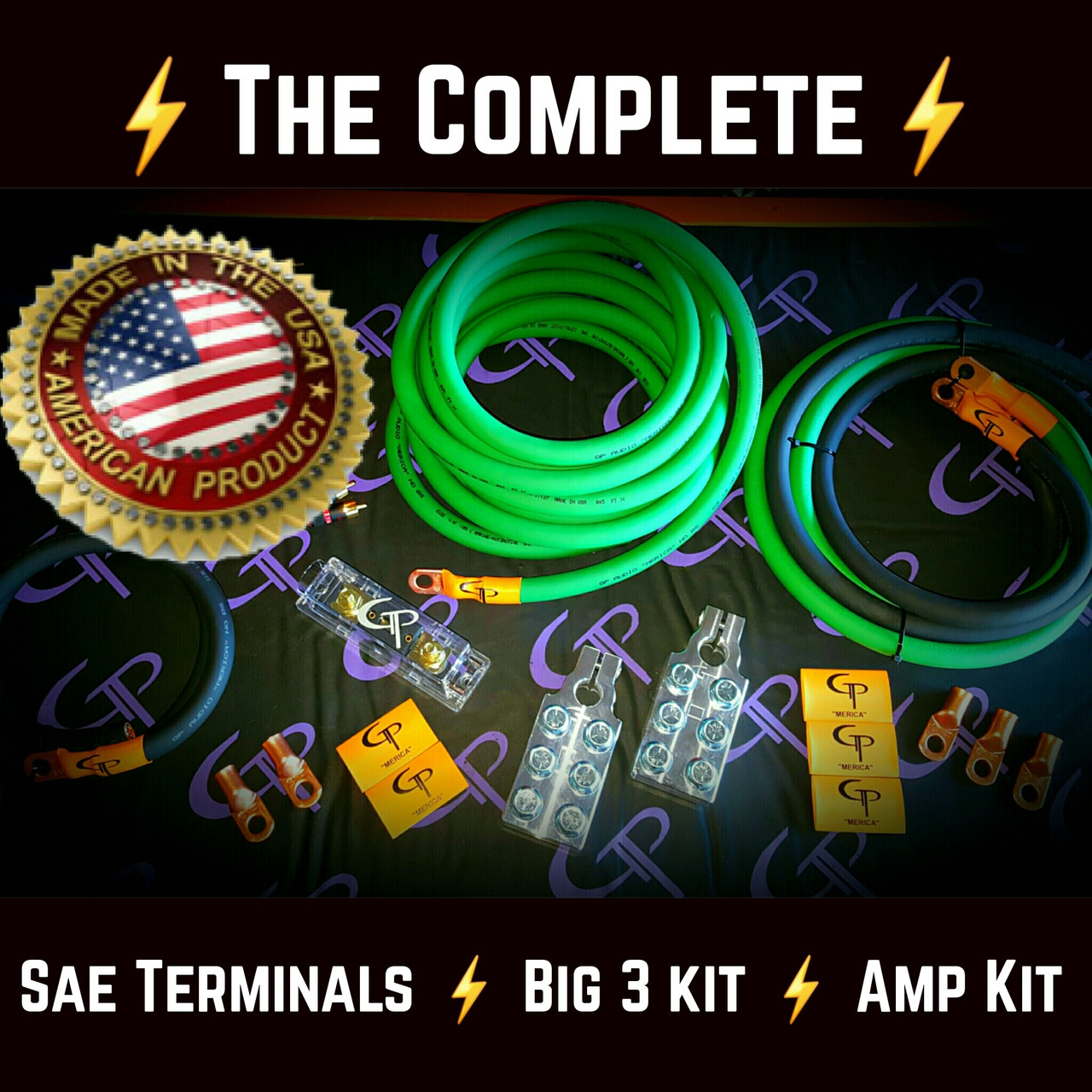 The Complete 1 0 Awg Stage Wiring Kit Gp Car Audio 2 Amp