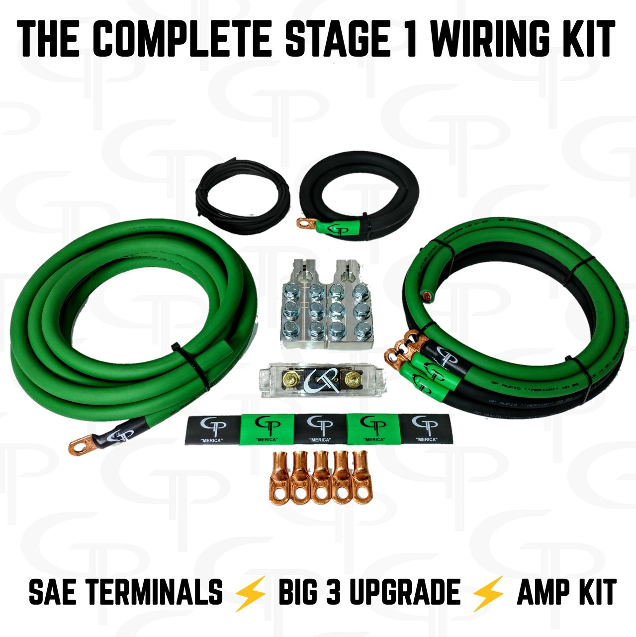 *The Complete: 1/0 AWG Stage 1 Wiring Kit
