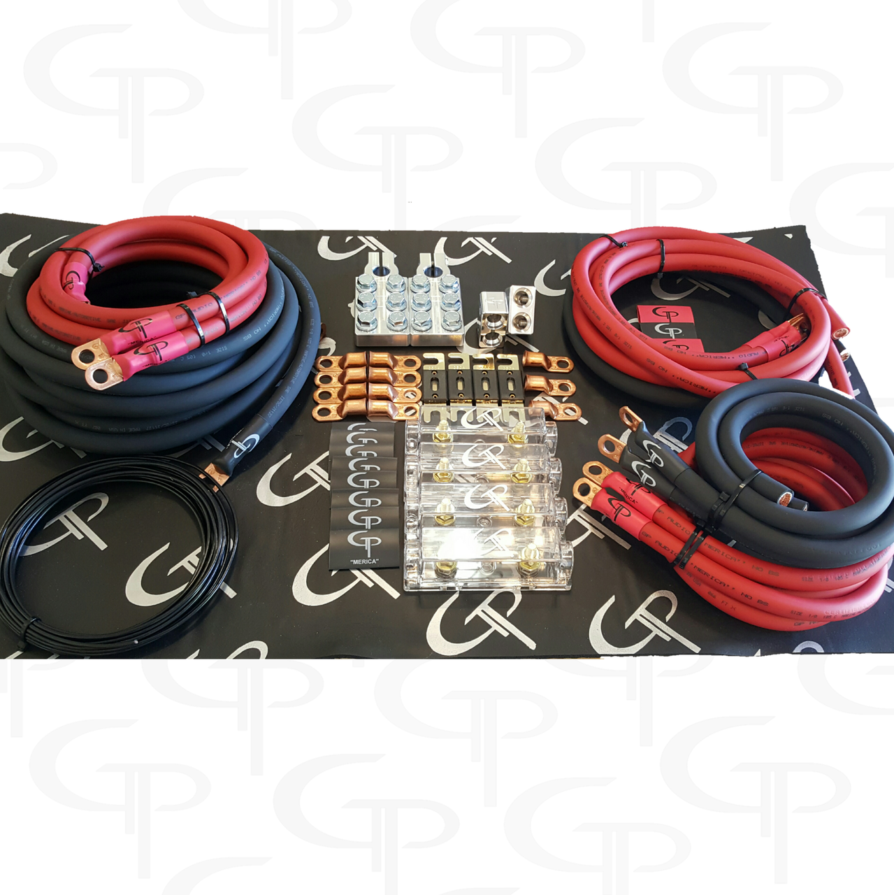the complete advanced: 2/0 awg stage 2 wiring kit - gp car audio  gp car audio
