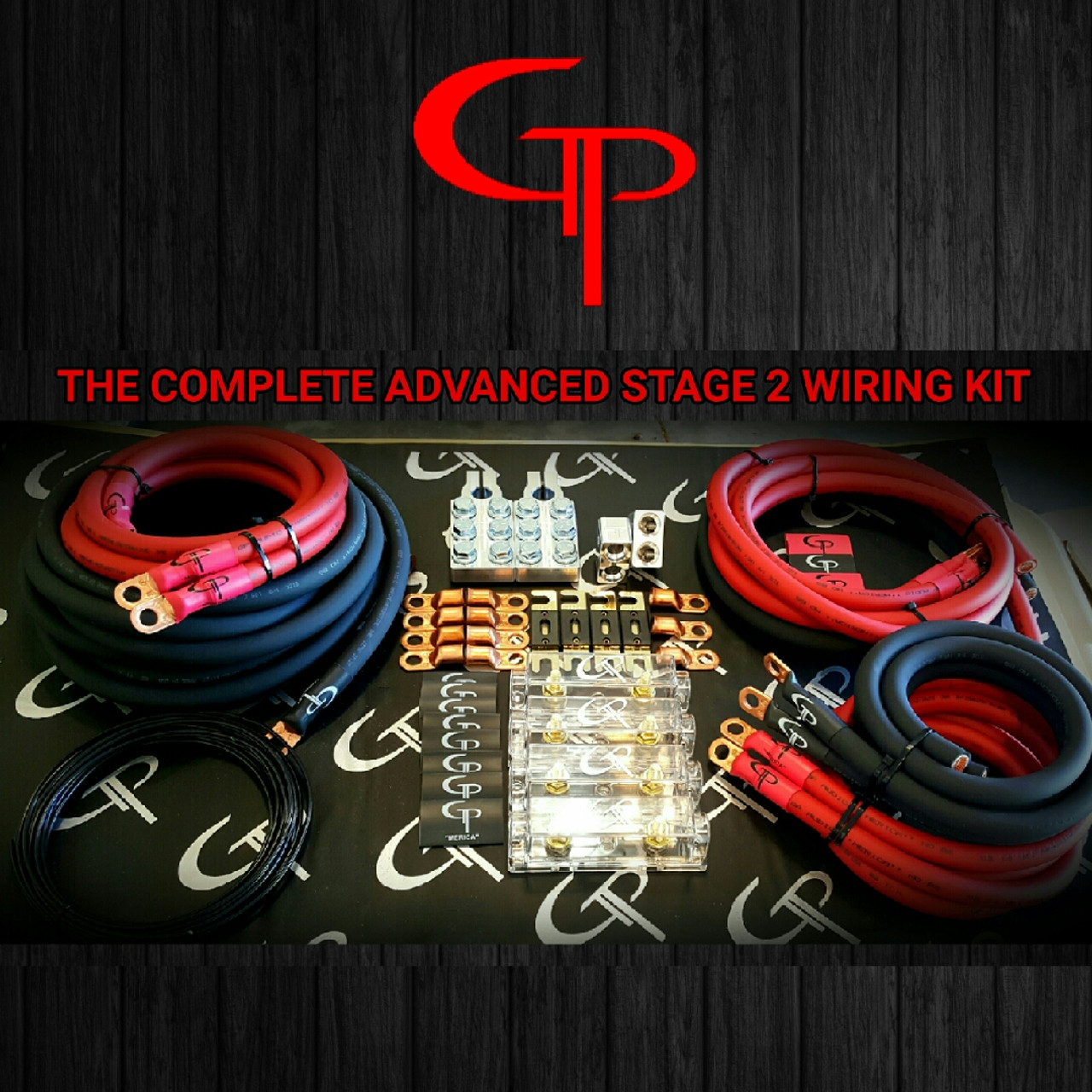 1//0 AWG GAUGE OFHC AMP WIRING KIT COMPLETE STAGE 2 GP CAR AUDIO GREEN BLACK