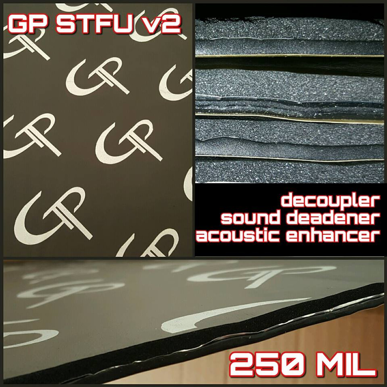 *GP STFU v2 250mil 80 SQFT (20 sheets)