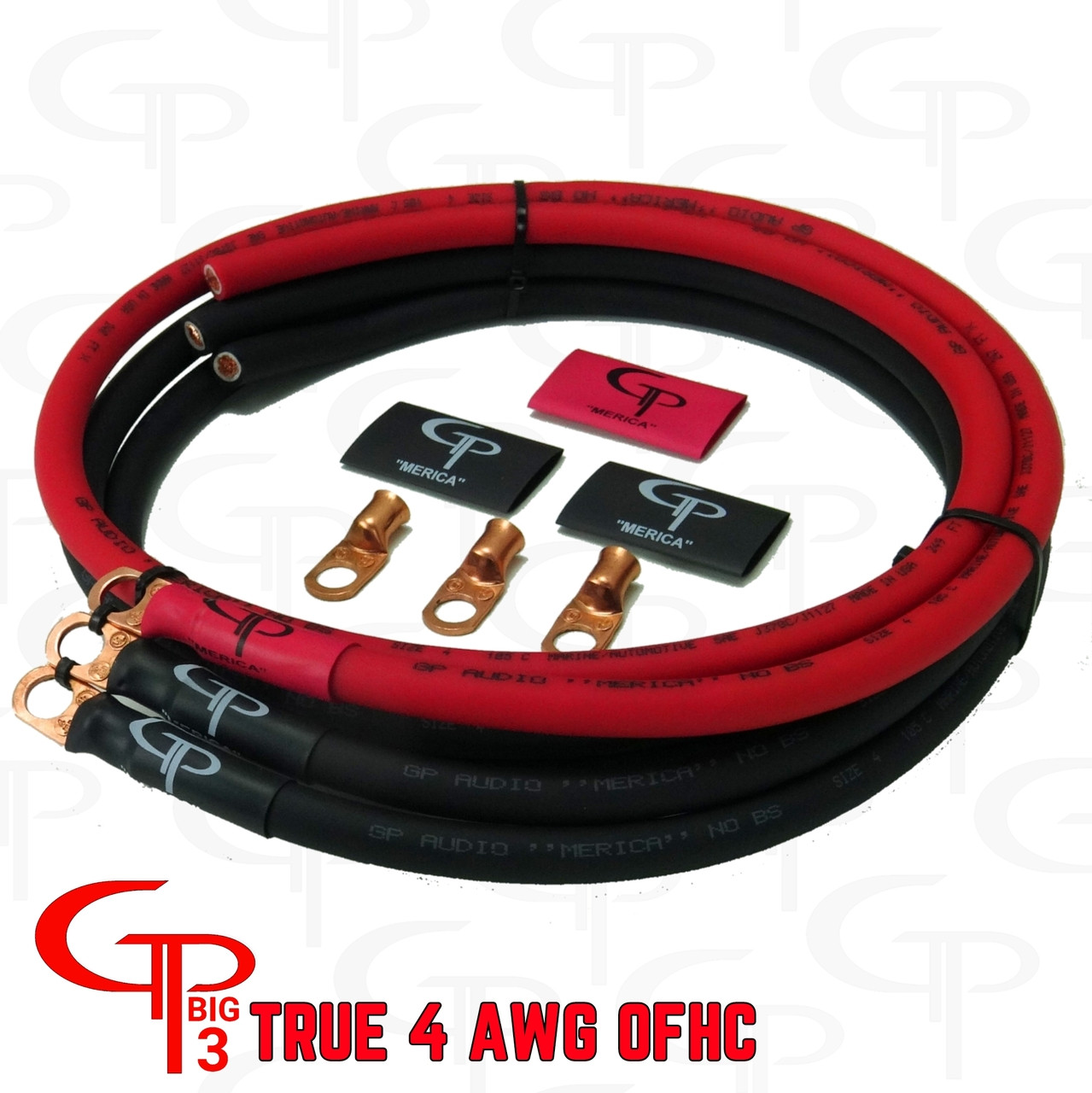 4 AWG Big 3 Upgrade Kit GP Merica NO BS OFHC CABLE