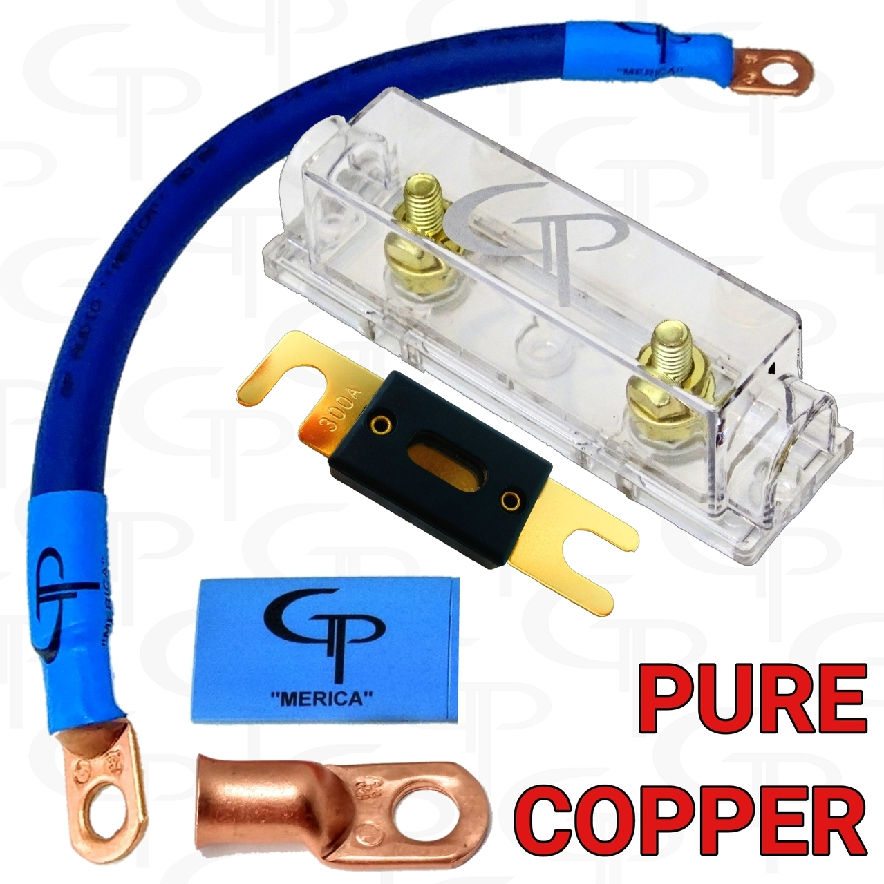 1/0 AWG GP INLINE ANL FUSE BLOCK INSTALL KIT