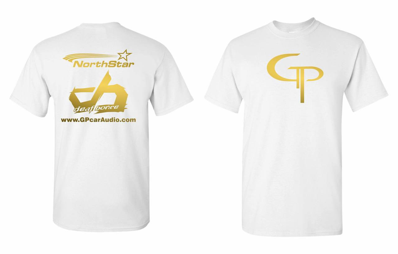 GP Official White & Gold T-Shirt