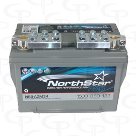 Northstar AGM34 w/ SAE Ring Terminal Style Machined Terminals