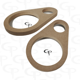 """GP 6.5"""" + Super Tweeter Dual Door Pod Baffle (Pair)"""