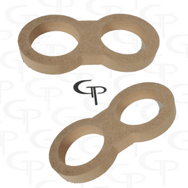 GP Dual Super Tweeter Door Pod Baffle (Pair)
