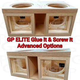 "GP ELITE Dual 10"" Compact High Performance Glue it & Screw It Sub Enclosure"