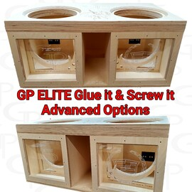 """GP ELITE Dual 12"""" Compact Glue it & Screw It Sub Enclosure"""