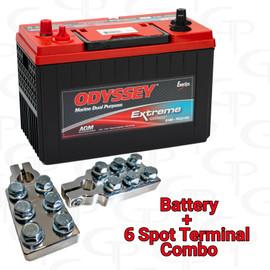 ODYSSEY Extreme Series Battery Marine ODX-AGM31M w/ GP Machined Terminals