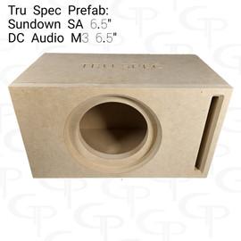 "TRU SPEC Prefab Single 6.5"" Subwoofer Enclosure Sundown SA /  DC M3"