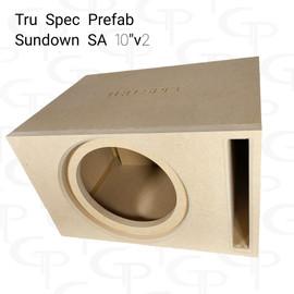 "TRU SPEC Prefab Single 10"" Subwoofer Enclosure Sundown SA 10v2"