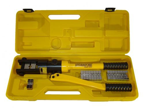*12 Ton Hydraulic Wire Crimper 10 Dies 6AWG to