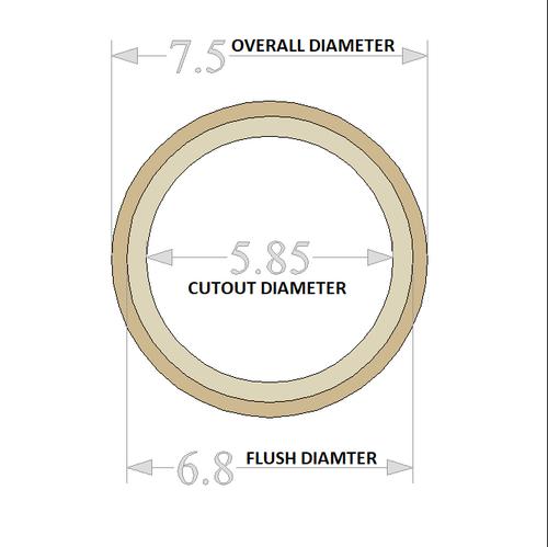 """GP 6.5"""" Flush Mount Speaker Rings 2 Pair"""