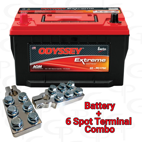 ODYSSEY Extreme Series Battery ODX-AGM65 w/ GP Machined Terminals