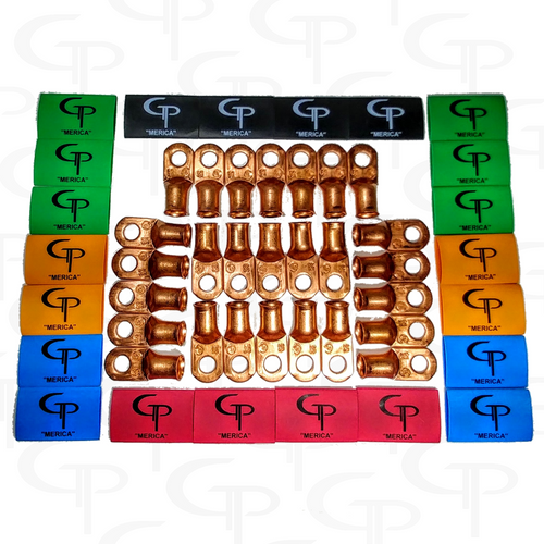 Pure Copper Lugs and GP Heat Shrink: Choose your quantity