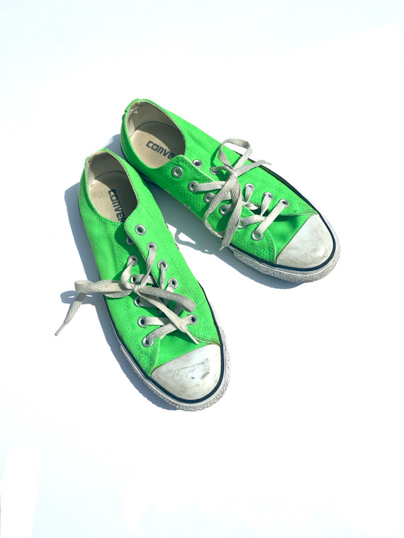 LIME GREEN CONVERSE CHUCK TAYLORS