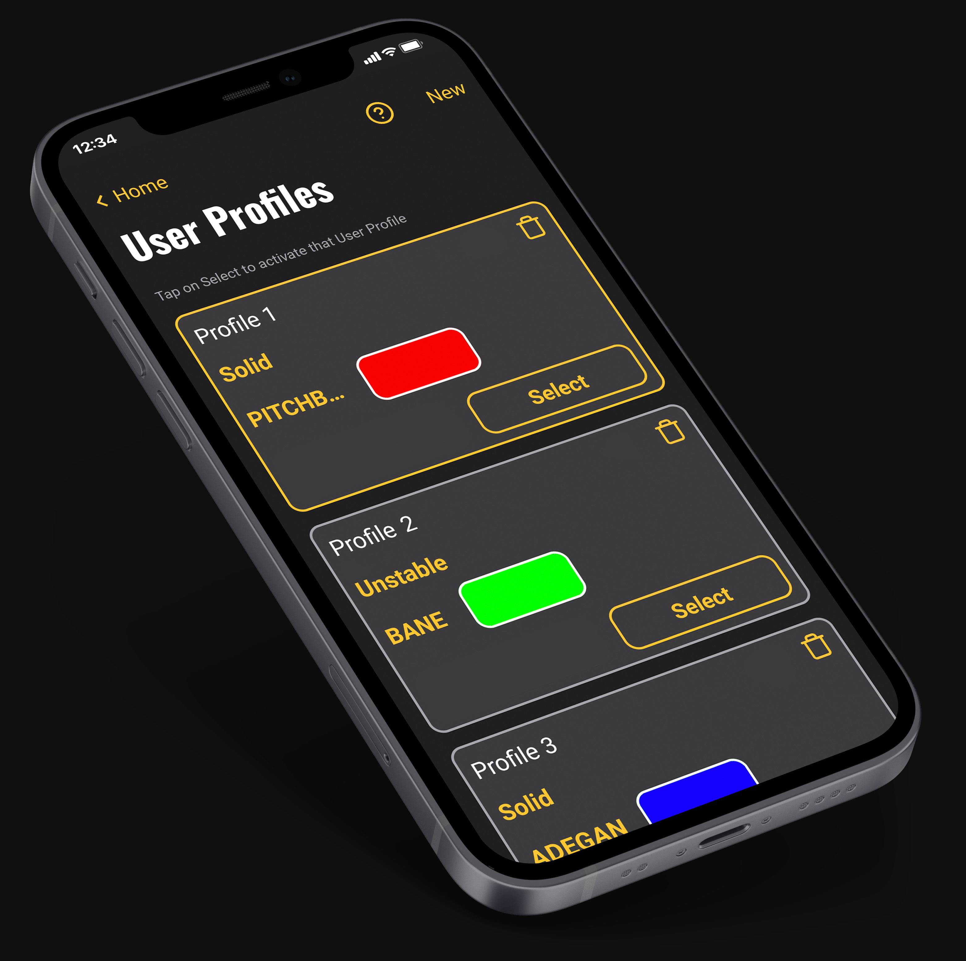 User Profiles Unity II App