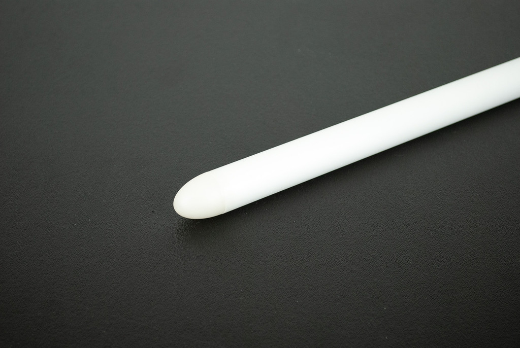 Thin Wall Trans-White, dual diffused, with parabolic tip.