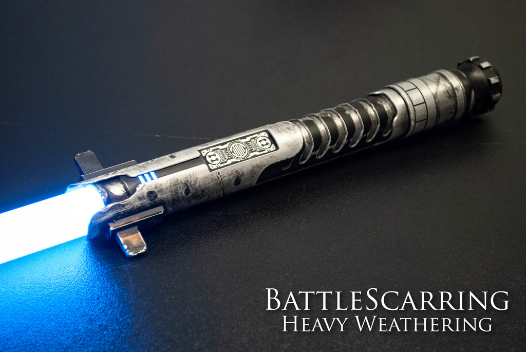 Heavy Weathered Allegiant Smart Saber® with black ION switch.