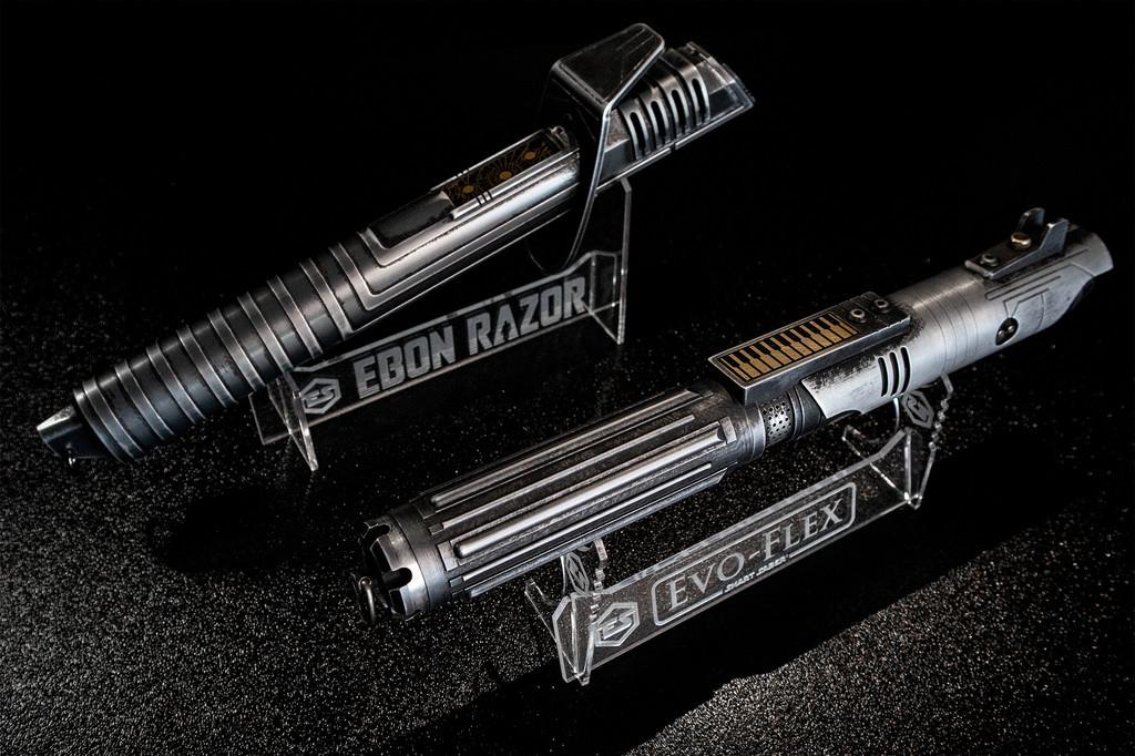 Ebon Razor and Evo-Flex Stands