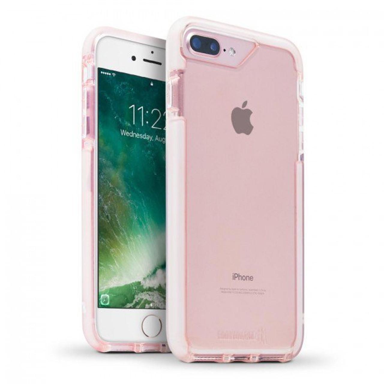 newest de5a5 4919c BodyGuardz Ace Pro Unequal Case iPhone 8+/7+/6+/6S+ Plus - Pink/White