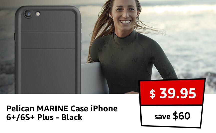 Pelican MARINE Case iPhone 6+/6S+ Plus - Black