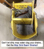 dirty mop water clogging drains