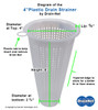 Commercial 4 IN Plastic Drain-Net Cone Strainer
