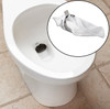 Traptex prevents toilet drain clogs