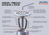 "Pro-Tech™ Dome Lock for 2"" Pipe"