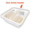 "Floor Sink Basket with Safety Handle - 8.5"" Square"